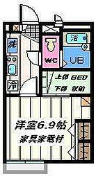 東京都葛飾区新宿3丁目の賃貸マンションの間取り
