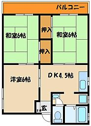 兵庫県明石市西明石西町2丁目の賃貸アパートの間取り