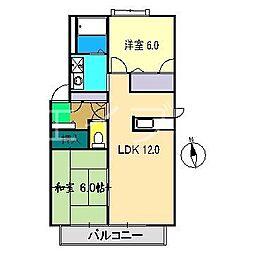 レジェンドB棟[1階]の間取り