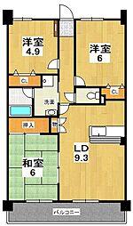 グランデ・アルヴォーレ3番館[1階]の間取り