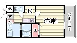 クレアドル須磨II[2階]の間取り