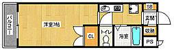 京都府京田辺市田辺中央5丁目の賃貸マンションの間取り