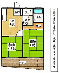 千草ハイツB[1階]の間取り
