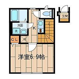 M・Tハウス[202号室]の間取り