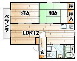 ディアス桜坂[2階]の間取り