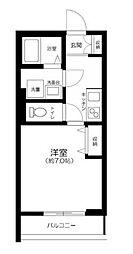 JR中央本線 三鷹駅 徒歩11分の賃貸アパート 2階1Kの間取り