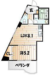 ダイナリィコアビル[6階]の間取り