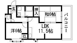 サクセスコート高司[2階]の間取り
