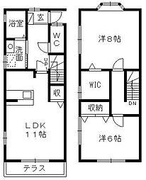[テラスハウス] 静岡県浜松市西区大平台4丁目 の賃貸【/】の間取り