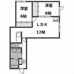 北海道札幌市豊平区豊平三条13丁目の賃貸アパートの間取り