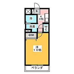 メリッサ原田[2階]の間取り