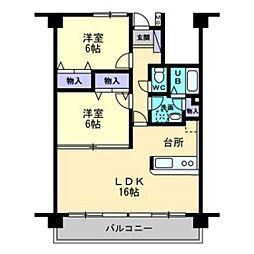 クレール新屋敷[1階]の間取り