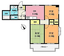 NKサンライトマンション[803号室]の間取り