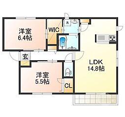 ソフィアA棟[2階]の間取り
