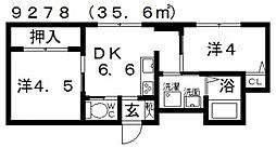 Domani(ドマーニ)[202号室号室]の間取り