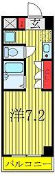 レガーロ西川口駅前 2階ワンルームの間取り