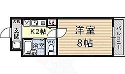 JR東海道・山陽本線 南草津駅 3.6kmの賃貸マンション 3階1Kの間取り