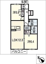 セレーノ長草[1階]の間取り