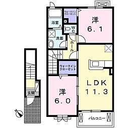 リバティII[2階]の間取り