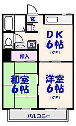 ボナール菅野[201号室]の間取り