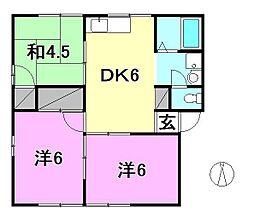 セジュール横田[B101 号室号室]の間取り