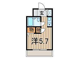 ジョイフル戸田公園[4階]の間取り