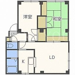 アーバンマンション2[4階]の間取り