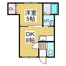 美昇No2[202号室]の間取り