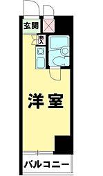 東京都台東区西浅草3の賃貸マンションの間取り