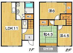 [タウンハウス] 神奈川県小田原市酒匂 の賃貸【/】の間取り