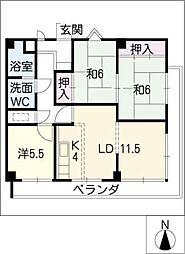 ルモン覚王山[3階]の間取り