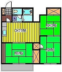 メゾンブランシュ川口[1階]の間取り
