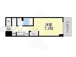 名古屋市営名城線 東別院駅 徒歩4分の賃貸マンション 13階1Kの間取り
