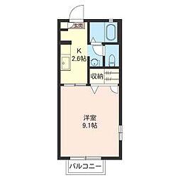 グランシャリオKA[1階]の間取り