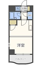 ピュアドームアリエス姪浜[701号室号室]の間取り