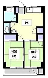 第1野々下マンション[605号室号室]の間取り