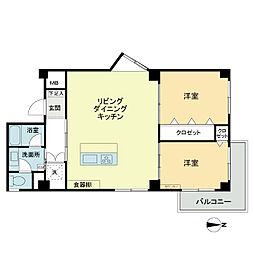 松栄レックスマンション[1階]の間取り