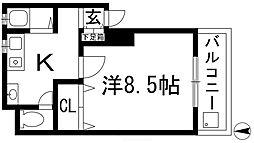 グリーンマンション玉屋2号館[1階]の間取り
