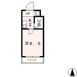 ヒューマスタ39[4階]の間取り