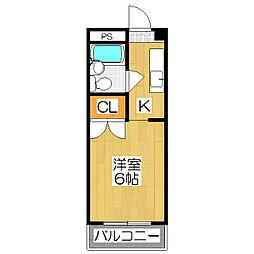 シャルム小松原[2階]の間取り