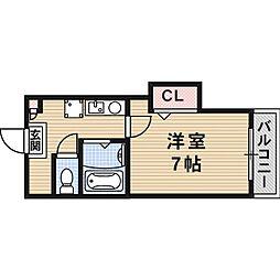 ラビスタ暁[0311号室]の間取り
