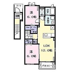 ポニートII(ポニートツー)[2階]の間取り