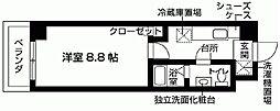 ソレイユ鶴瀬[6階]の間取り