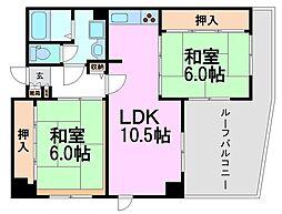アミング潮江20-1[5階]の間取り