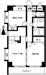 ステラビュー新横浜[204号室]の間取り