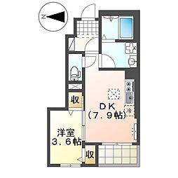 ラ・プレール102[1階]の間取り