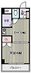 アベノ池田マンション[2階]の間取り