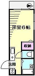 ウインズ鎌谷町[1階]の間取り