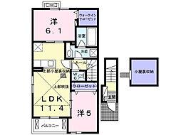 アイリスD[2階]の間取り