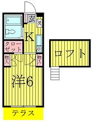 メゾンアサノ[105号室]の間取り